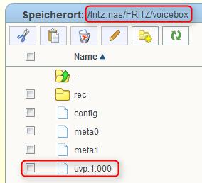 Fritz!Box AB Ansage über NAS