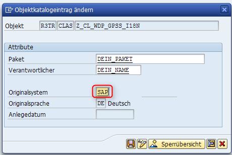 Originalsystem eines SAP-Objektes ändern