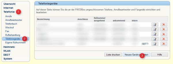 Fritz!Box IP Telefoniegerät einrichten