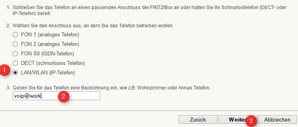 Fritz!Box IP Telefon einrichten