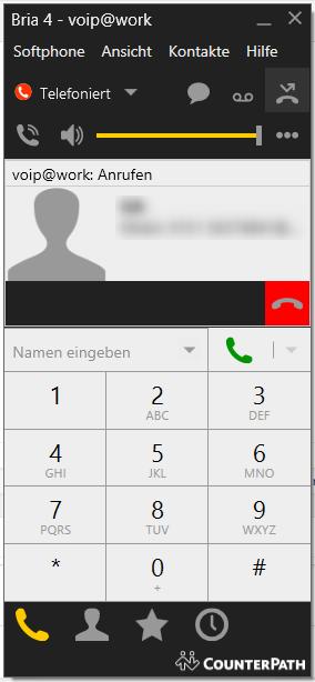 Bria - anrufen