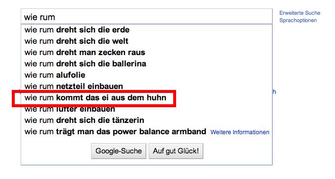 Googlecomplete Folge 1: wie rum
